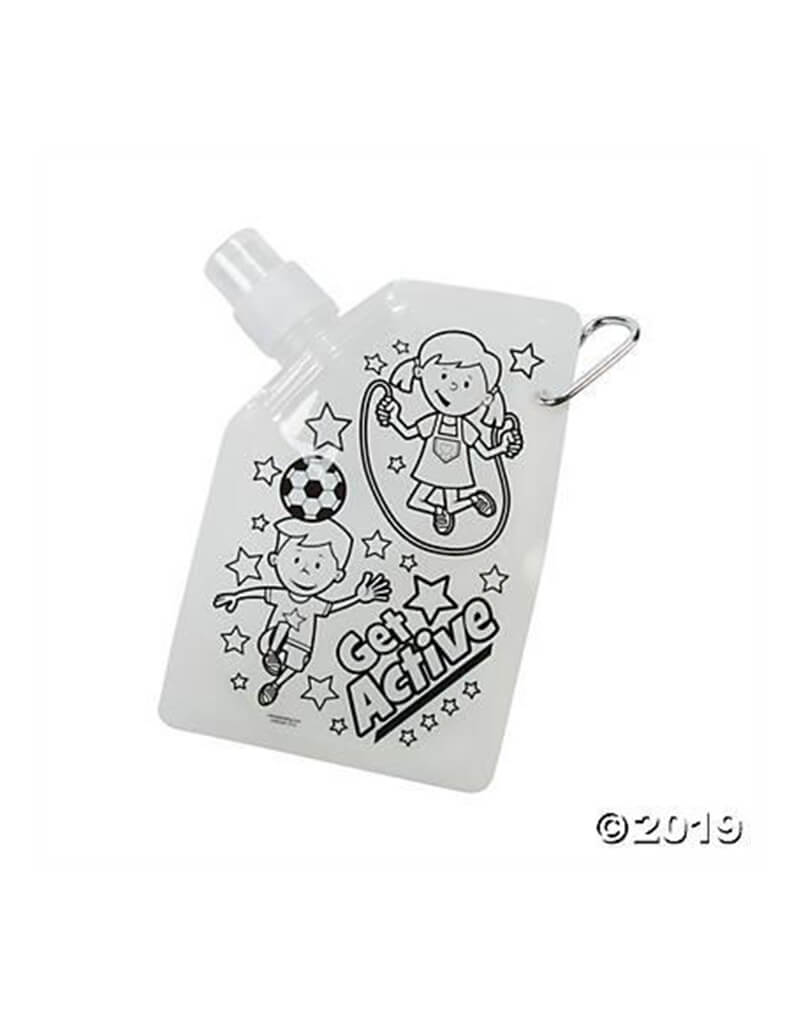 Color your own Get Active Wayer Bottle